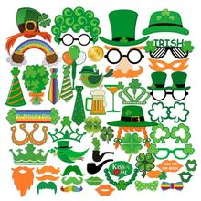 52Pcs/set St. Patrick's Day Photo Booth Props DIY Creative Kit for Photographing Decoration Party Supplies(China)
