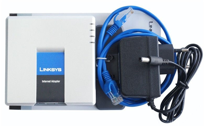 Fast shipping! firmware Unlocked Linksys PAP2T-NA PAP2T NA with US/EU/UK/AU power charger(China)