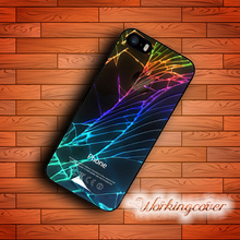Capa Luxury Inverse Cracked Cool Design Case for iPhone 7 6S 6 5S SE 5 5C 4S 4 Plus Case Cover for iPod Touch 6 5 Case.