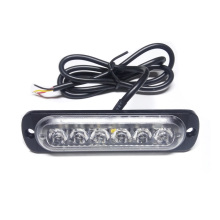 Car-Styling 18W White Amber Lamp Flash Flashing Auto Strobe Emergency Warning Light Bar 6 LED Parking Lights New Free Shipping