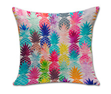 Drop shipping 100% New Sketch Pineapple Cotton Linen Sales Cushion Pillow Decorate Good Quality  New Hot