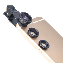 Original mobile phone lenses 3 in 1 fisheye Lens wide angle macro camera lens for oppo r7 r9s plus A59 A37 Google Nexus 4 5 6 5X(China)