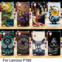 Soft Mobile Phone Cases For Lenovo P780 5.0 inch P 780 Cases Minions Dirt-resistant Hard Back Covers Skin Housing Sheath Bags