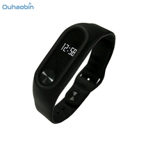 Buy Ouhaobin New Fashion Black Strap Silicone Wristband Business Style Strap Bracelet Xiaomi Mi Band 2 Wrist Straps Oct26 for $2.45 in AliExpress store