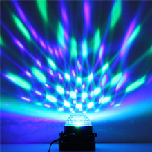 LED Disco Ball Party Lights DJ Disco Ball Stage Light 3W 240V 7 Colors Sound Activated Strobe Stage Lighting Club Strobe Effects(China)