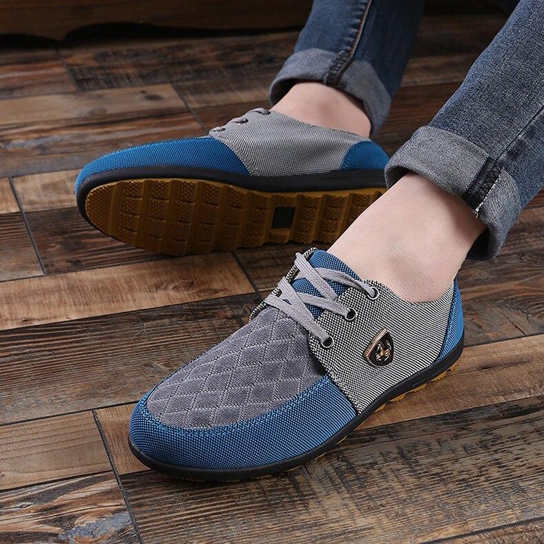 18 Fashion Canvas Shoes Men Casual Shoes Summer Breathable Yellow Comfortbale Espadrilles Sneakers Men Flats Shoes Big Size 15