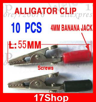 500PC Alligator Clip Clamp for banana plug Power Probes<br><br>Aliexpress