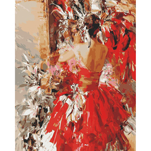 Diamond handcraft embroidery people dancing picture of diamond mosaic painting bynumbers diamond RQ(China)