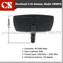 2.4G 8dBi High Gain Wifi PANEL Antenna, 2.4G panel antenna with RP SMA male connector inner holder(China)