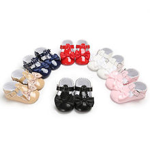 Pudcoco 2017 Babys Newborn Toddler Infant Kids Formal Anti-Slip Soft Bottom Shoes 0-18M(China)