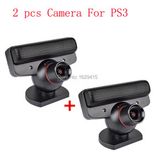 2 pcs Official Eye USB Camera Motion Sensor Cam with Mic for Sony Play Station 3 PS3 Console Move Games System