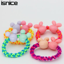 Buy isnice Big Ball cartoon Hair Rope Elastic Hair Bands Girl Kids Gum Hair Rubber Bands Hair Accessories hairband 2018 for $1.83 in AliExpress store