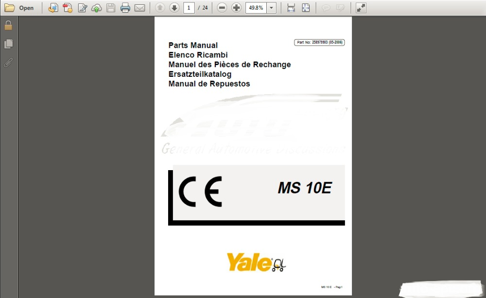 YALE (Parts &amp; Manuals) PDF<br><br>Aliexpress