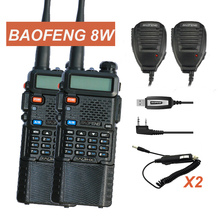 New Baofeng Two Way Radio UV-8HX Walkie Talkie Dual Band UV5R 8W High Power DC7.4V 3800mAh Battery Ham Radio UV-5R Transceiver