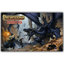 Pathfinder RPG Fantasy Dragon Board Video Games Bedroom Home Decoration Silk Fabric Canvas Poster Print YX1272
