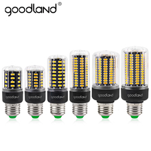 Goodland E27 LED Lamp  Smart IC SMD5736 E14 LED Bulb AC 85V-265V 3.5W 5W 7W 9W 12W 15W Corn Light No Flicker Chandelier Light