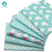 Mint Color Printed Cotton Fabric for Patchwork Sewing Handmade Needlework Material Telas to Patchwork 6pcs/lot 40cm*50cm