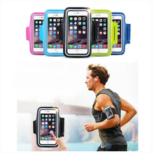 4.9-5.8'' Phone Waterproof Sports Running Arm Band Leather Case Armband Key Holder Touch Skin For OnePlus X ONE E1000 One Mini(China)