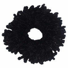 10 Pieces Black Simple Comfortable Volumising Scrunchie Big Hair Tie Ring Hijab Volumizer Khaleeji Headwear without Clip