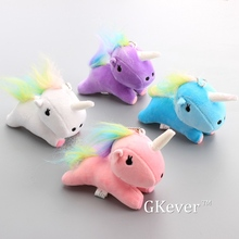 "Anime 4 Pcs/Set Little Twin Stars Unicorn Horses Plush Keychain Cute Mini Soft Stuffed Animals Children Gift 4"" 10 cm"