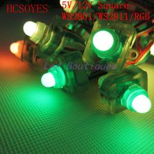 50pcs ws2811 ws2801 RGB led module string Square Individually addressable  IP68 waterproof  led lighting full color RGB string