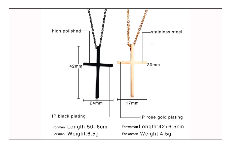 Meaeguet Christian Love Cross Pendant Jesus Necklaces For Couple Stainless Steel Religious Collier Jewelry  (5)