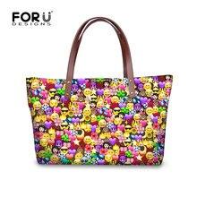 FORUDESIGNS Luxury Designer Women Handbags 3D Funny Smileys Emoji Face  Shoulder Bag for Girls Female Top 44628dc960