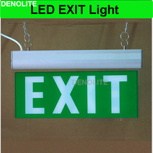 LED Exit Sign Lamp Rechargeable Emergency Light With Ni-Cd1.2V Battery Led Emergency Exit Light 3W 6/8 Green Leds Lighting(China)