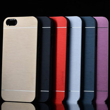 Slim Metal Cases Luxury Fashion Ultra Thin Aluminum Cell Phone Case For iPhone 4 4S 5 5S 5G SE 6 6S 6Plus  7 7Plus Back Cover