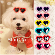 20pcs 2014 New Top Quality Dog pet hair bows dog accessories Love Glasses Style Pet Dog Hair Bows pet Grooming Product Cute Gift