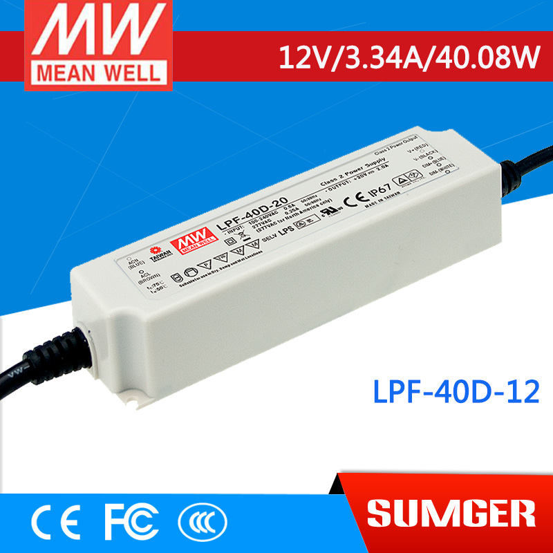 [SumgerT7] MEAN WELL original LPF-40D-12 12V 3.34A meanwell LPF-40D 12V 40.08W Single Output LED Switching Power Supply<br><br>Aliexpress