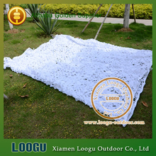 LOOGU 6M*7M Snow White Camouflage Net Camping Tourist Tent Hiking Tourist Tent Sun Shelter Snow White Camouflage Net(China)