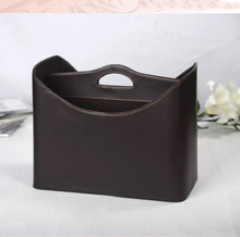 new fashion home leather gift basket storage basket for newspaper magazine clothes sundries wine 280B(China)
