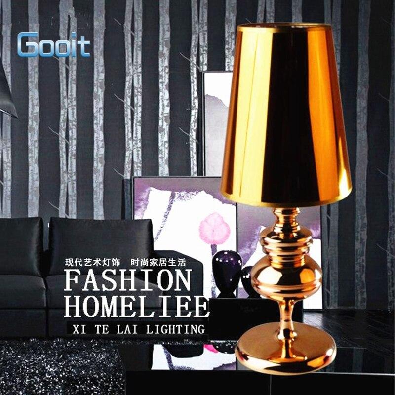 Table Lamp Modern European Style Gold High Grade Eyeshield Desk Lamp For Home Bedroom Living Room Decoration Bedside Lamp<br>