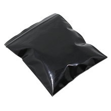 6.69*9.83inch 50Pcs/ Lot Dark Black Moisture Proof Reclosable Soft Plastic Package Storage Bag Opaque Self Seal Zip Lock Baggies