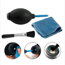 3in1 Dust Cleaner Camera Cleaning Lens Brush Air Blower Wipes Clean Cloth kit for for Gopro Canon Nikon Sony DSLR Camcorder VCR(China)