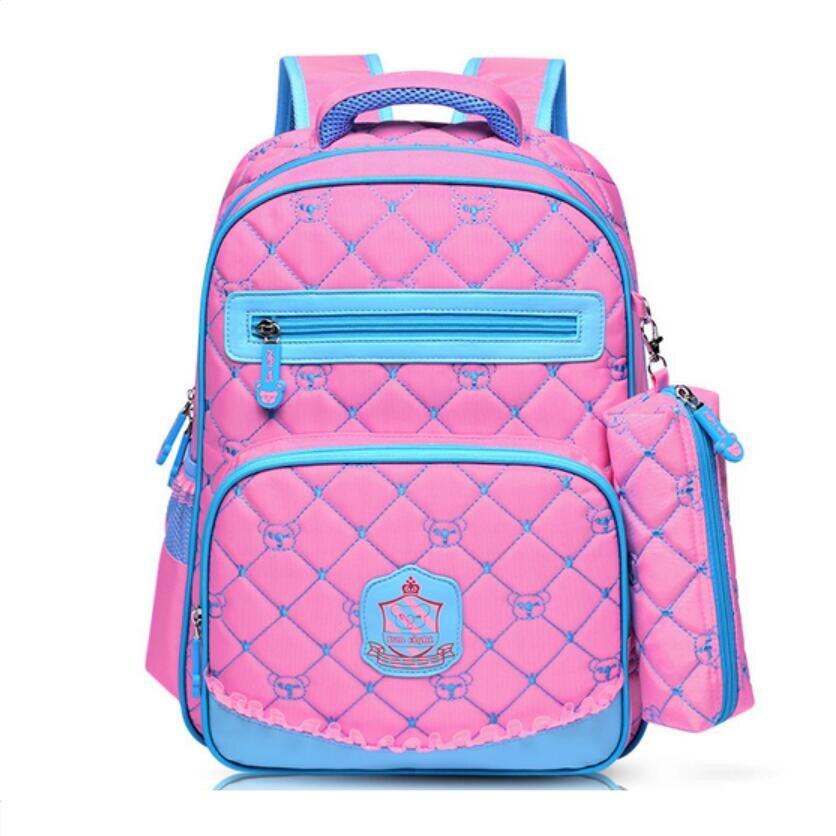 children school bags korean style backpacks for teenage girls pink bag for school kids backpack red plaid bookbag pink pen case<br><br>Aliexpress