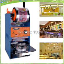 free shipping 220V 50hz manual plastic cup sealing machine bubble tea machine bubble tea cup sealer machine