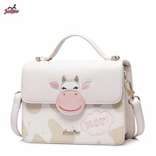 Just Star Brand New Design Adorable Cows PU Leather Women Handbag Ladies Girls Shoulder Cross body Small Flap Bag()