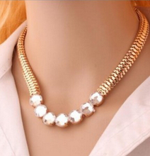 XL 0332 2016 Hot big fashion jewelry brand punk metal chain crystal necklace women factory outlets