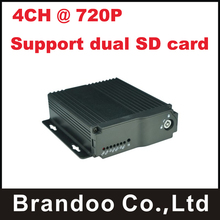4CH MDVR support Support Dual SD card,widely for taxi,bus,truck used