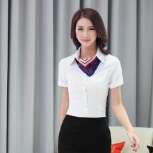 New 2015 Summer Formal Uniforms Female Tops Clothes Business Women Work Wear Shirts Blouses Blusas Femininas OL Blusa Camasis