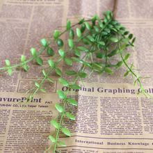 Hight Quality Plastic Vivid Green Artificial Plant FLoral Foliage Vine Party Office Desk Decorative