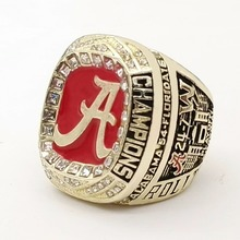Factory direct sale Good Quality 2016 Alabama Crimson Tide SEC Football Championship Ring Size 9 to 13