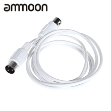 MIDI Extension Cable Male to Male 5 Pin 1.6M/5.25FT High Quality 5 Pin Male to 5 Pin Male MIDI Extension Cable
