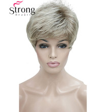 Short Shaggy Layered Blonde Ombre Classic Cap Full Synthetic Wig Women's Wigs(China)
