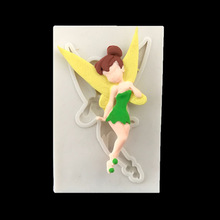 Fondant Chocolate Silicone Mold 3D Angel Girl Flower Fairy For Cake Decorating Tools Soap Candle Kitchen Baking Accessories