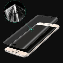 Luxury Bling 3D Curved Soft Film For Samsung Galaxy S7 S6 Edge S8 Plus Screen Protectors PET Phone Cases ( Not Tempered Glass )