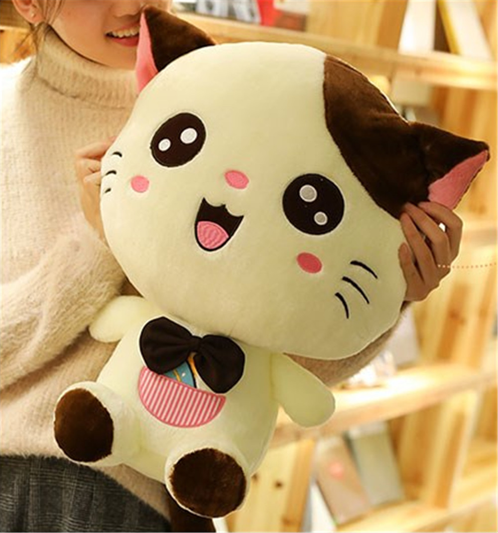 Fancytrader Lovely Cat Doll Plush Giant Soft Stuffed Cartoon Cat Toy Sitting Size 60cm Nice Valentine Gift 21
