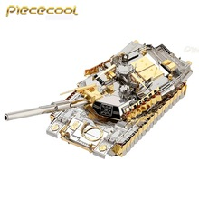 Piececool M1A2 SEP Tank 3D Laser Cut Metal Puzzle DIY 3D Assembly Jigsaws Model Military 3D Nano Puzzle Toys for Children Gifts(China)